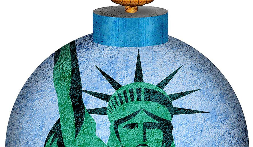 Debt Bomb Illustration by Greg Groesch/The Washington Times