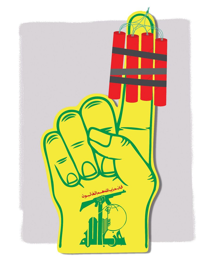 Illustration on the results of Lebanon's recent elections by Linas Garsys/The Washington Times