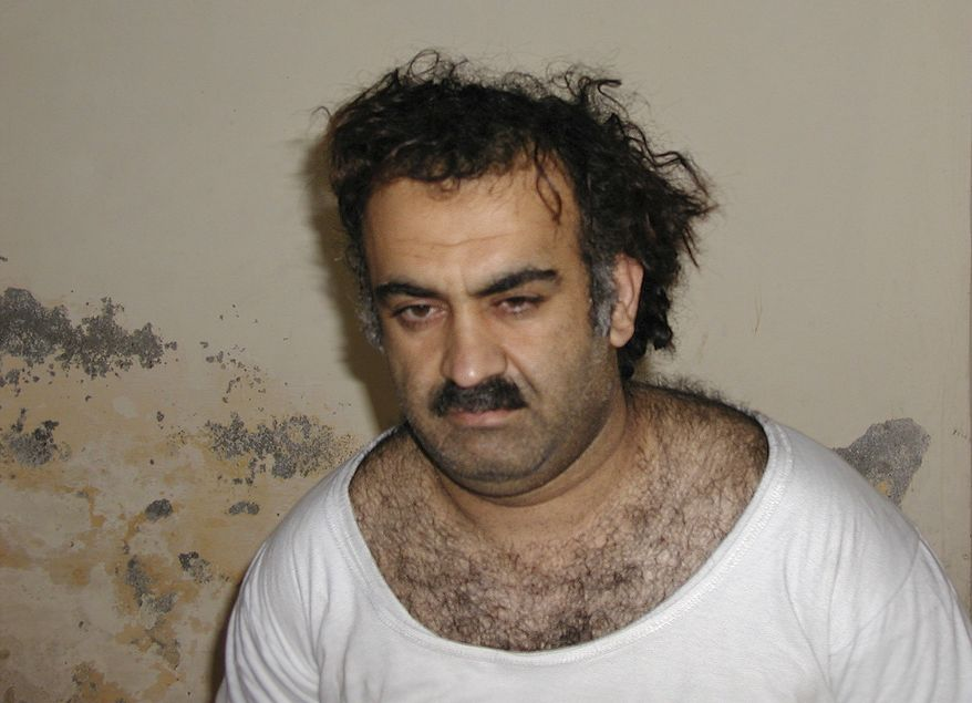 Khalid Sheikh Mohammed, charged with a host of crimes including murder, conspiracy and terrorism in connection with the Sept. 11, 2001, attacks, is in legal limbo as his defense team stalls for time. (Associated Press/File)