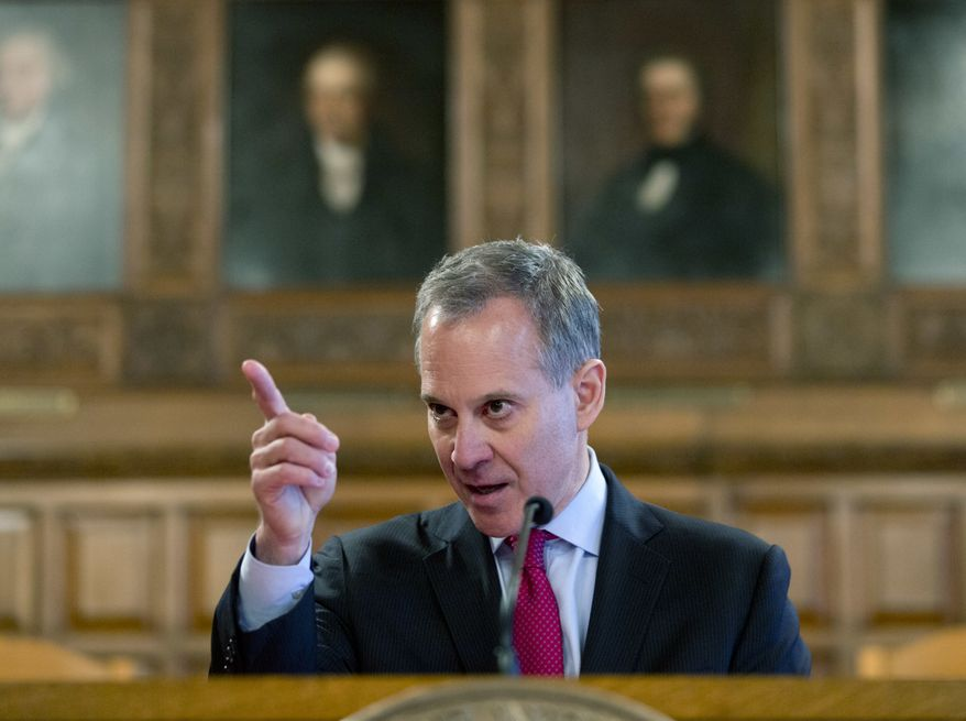 New York Attorney General Eric Schneiderman speaks during Law Day at the Court of Appeals, Monday, May 2, 2016, in Albany, N.Y. (AP Photo/Mike Groll) ** FILE **