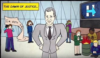 """Comedian Samantha Bee told fans via YouTube on May, 8, 2018, that she would like to """"sincerely apologize"""" for framing New York's disgraced former Attorney General Eric Schneiderman as a superhero in 2017. (Image: YouTube, """"Full Frontal with Samantha Bee"""" screenshot)"""