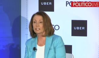 """House Minority Leader Nancy Pelosi discusses the U.S. political landscape with Politico, May 8, 2018. The California lawmaker wants to raise taxes in a """"bipartisan"""" manner. (Image: Politico Live event screenshot)"""