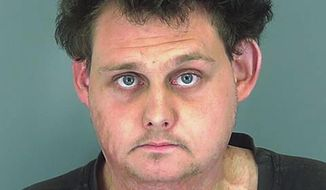 This undated photo provided by the Spartanburg County Detention Center in South Carolina shows Brandon Lecroy. Authorities say Lecroy thought he was offering $500 to a hit man to kill his black neighbor, hang his body from a tree and burn a cross on his lawn, but he was mistaken. Court documents show the supposed hit man contacted through a white supremacist group was really an undercover officer, and 25-year-old Lecroy was charged with murder for hire. (Spartanburg County Detention Center via AP)