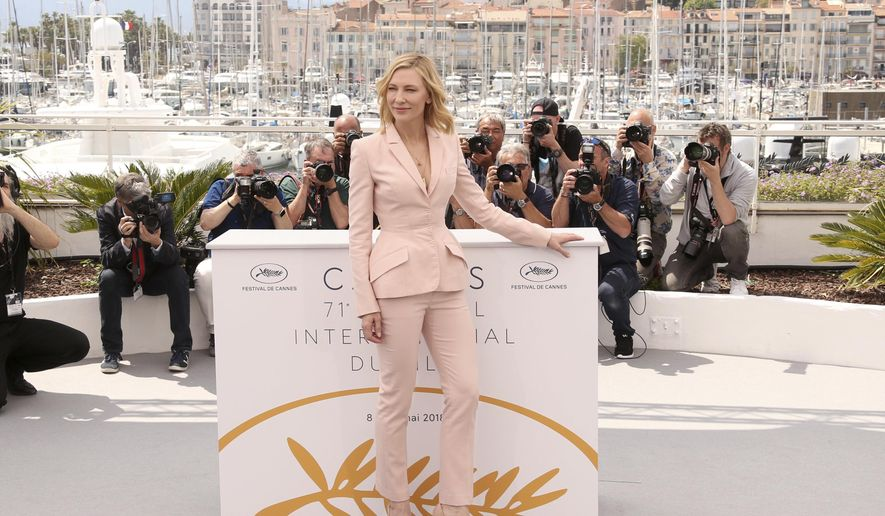 Jury president Cate Blanchett poses for photographers during a photo call for the jury at the 71st international film festival, Cannes, southern France, Tuesday, May 8, 2018. (Photo by Joel C Ryan/Invision/AP)