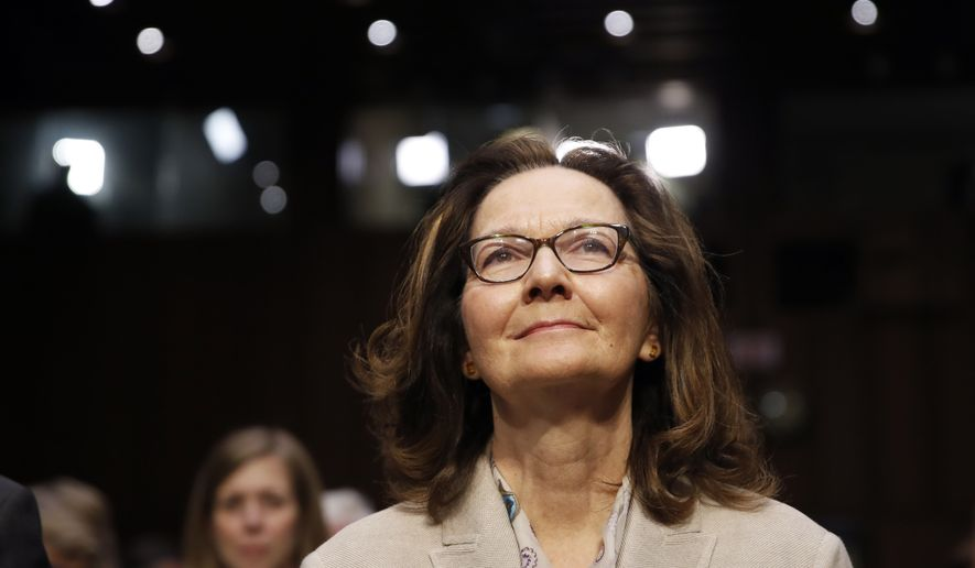 CIA nominee Gina Haspel is seated for a confirmation hearing of the Senate Intelligence Committee on Capitol Hill, Wednesday, May 9, 2018 in Washington. (AP Photo/Alex Brandon)