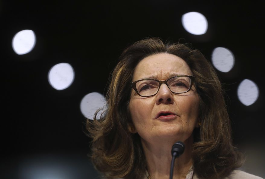 CIA nominee Gina Haspel testifies during a confirmation hearing of the Senate Intelligence Committee, on Capitol Hill, Wednesday, May 9, 2018 in Washington. (AP Photo/Pablo Martinez Monsivais)