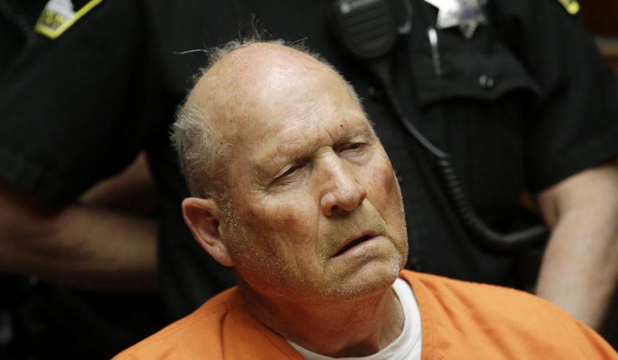 "Genetic genealogists using DNA matching helped catch the ""Golden State Killer,"" Joseph James DeAngelo, who is reportedly responsible for 50 rapes and 12 killings dating back decades. (Associated Press/File)"