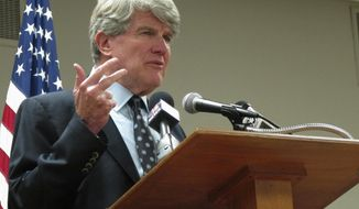 FILE - In this Oct. 10, 2017, file photo, retired Milwaukee attorney and former Wisconsin Democratic Party chairman Matt Flynn launches his candidacy for governor in Madison, Wis. Flynn plans to submit the required signatures to get on the ballot for governor as a Democrat on Wednesday, May 9, 2018, even as pressure mounts over his past work defending the Milwaukee Archdiocese against priest abuse victims. (AP Photo/Scott Bauer, File)