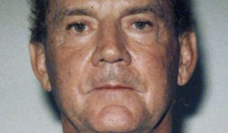 "FILE - This 1995 file booking photo taken in West Palm Beach, Fla., and released by the FBI shows Francis P. ""Cadillac Frank"" Salemme. Opening statements are expected Wednesday, May 9, 2018 in federal court in Boston, in the trial of the ex-mafia boss Salemme and co-defendant Paul Weadick. Prosecutors said Salemme watched his son strangle nightclub owner Steven DiSarro in 1993 while Weadick held DiSarro's legs off the ground. Salemme and Weadick deny participating in DiSarro's killing. (Federal Bureau of Investigation via AP, File)"