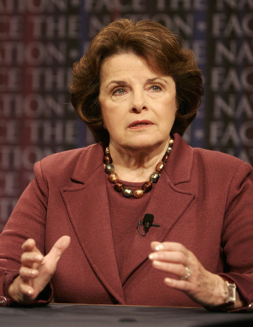 Sen. Dianne Feinstein. (Associated Press) ** FILE **