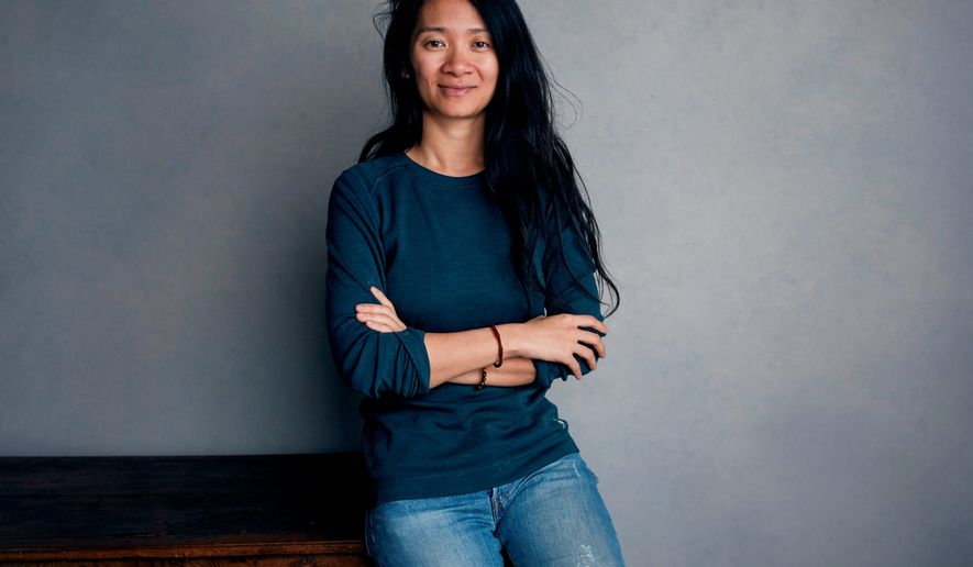 "This Jan. 22, 2018, file photo shows writer/director Chloe Zhao posing for a portrait to promote her film ""The Rider"" during the Sundance Film Festival in Park City, Utah. Zhao's film, set on the Pine Ridge Reservation in South Dakota, is cast with nonprofessional actors playing characters similar to themselves, and stars Brady Jandreau as an injured rodeo rider. (Photo by Taylor Jewell/Invision/AP, File)"