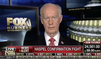 """Retired Air Force Lt. Gen. Thomas McInerney went further though than criticizing the Arizona Republican's opposition to confirming Gina Haspel as CIA director, calling the Vietnam-era POW """"Songbird John,"""" a word choice that prompted the Fox Business host to apologize to Sen. John McCain.  (Screen shot from Fox Business)"""
