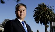 In this Thursday, May 3, 2018, photo, U.S. Rep. Ted Lieu, D-California, poses for a picture in the Venice community of Los Angeles. Members of the Asian-American community are running for federal office from all corners of the country, dozens of them as Democratic candidates deliberately playing up their Asian roots in opposition to a president they say demonizes the immigrants that make America great. (AP Photo/Chris Carlson)
