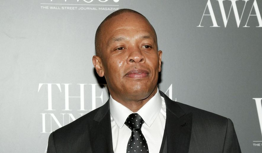 """In this Nov. 5, 2014, file photo, Dr. Dre attends the WSJ. Magazine 2014 Innovator Awards at MoMA in New York. Dr. Dre has lost his trademark fight against Dr. Drai. The rapper objected to the trademark application of the Pennsylvania gynecologist whose nickname is spelled differently but sounds the same. Dr. Draion M. Burch's website advertises that he's an """"obgyn and media personality."""" (Photo by Andy Kropa/Invision/AP, File)"""