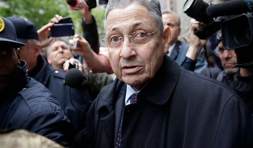 FILE - In this May 3, 2016, file photo, former Assembly Speaker Sheldon Silver leaves court in New York. Jurors could soon start deliberating in Silver's bribery trial. Closing arguments are slated to begin on Thursday, May 10, 2018. (AP Photo/Seth Wenig, File)