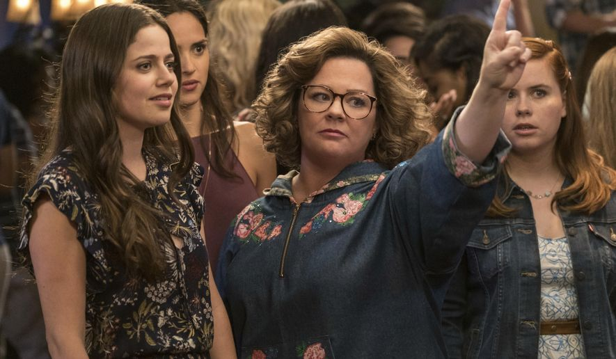 "This image released by Warner Bros. Pictures shows Molly Gordon, left, and Melissa McCarthy in a scene from ""Life of the Party,"" in theaters on May 11. (Hopper Stone/Warner Bros. Pictures via AP)"