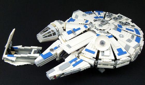 "The exterior of Lego's ""Solo: A Star Wars Story"" Kessel Run Millennium Falcon (Photograph by Joseph Szadkowski / The Washington Times)"
