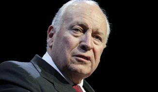 In this Feb. 27, 2017, file photo, former Vice President Dick Cheney speaks at the Republican Jewish Coalition annual leadership meeting in Las Vegas. Cheney says the Senate should not only confirm CIA nominee Gina Haspel, but should restart the spy agency's harsh detention and interrogation practices used on terror suspects after 9/11. Cheney told Fox Business on Thursday that if it were his call, he would have the program active and ready to be employed if needed.  (AP Photo/John Locher)