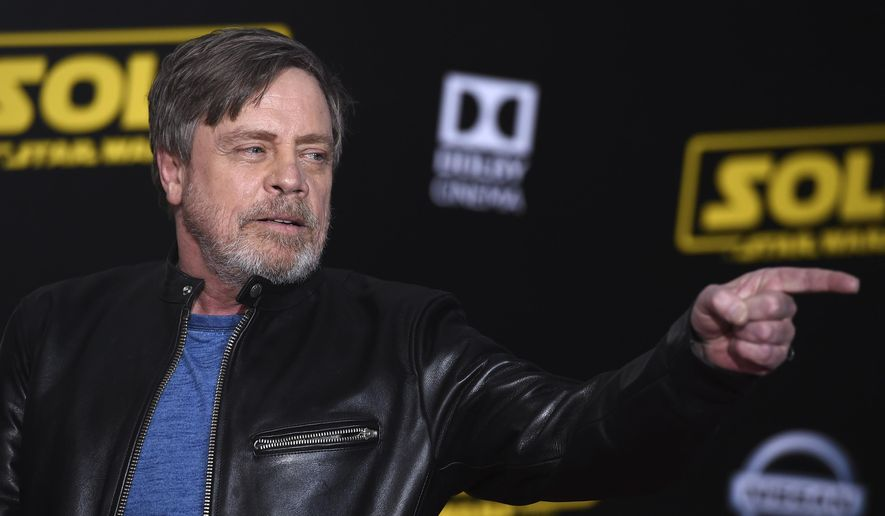 "Mark Hamill arrives at the premiere of ""Solo: A Star Wars Story"" at El Capitan Theatre on Thursday, May 10, 2018, in Los Angeles. (Photo by Jordan Strauss/Invision/AP)"