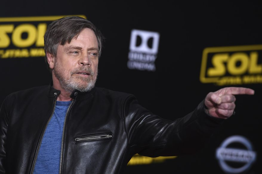 """Mark Hamill arrives at the premiere of """"Solo: A Star Wars Story"""" at El Capitan Theatre on Thursday, May 10, 2018, in Los Angeles. (Photo by Jordan Strauss/Invision/AP)"""