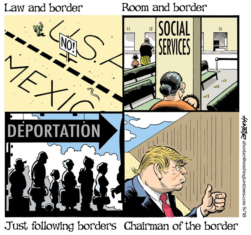 Illustration by Alexander Hunter for The Washington Times (published May 13, 2018)