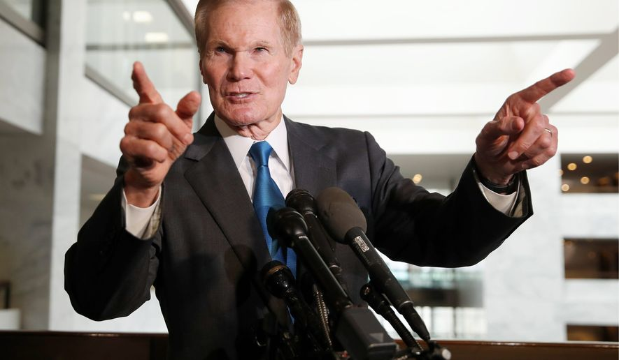 This year, Sen. Bill Nelson, Florida Democrat, faces his toughest challenge yet. He'll run against Gov. Rick Scott, which sent Mr. Nelson scrambling to nationalize the race. (ASSOCIATED PRESS)