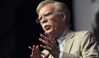 Ambassador John Bolton, Senior Fellow, American Enterprise Institute, speaks during Faith and Freedom Coalition's Road to Majority event in Washington, Thursday, June 19, 2014. (AP Photo/Molly Riley)