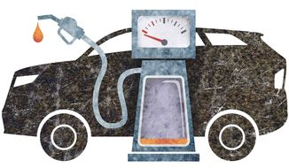 Gas-Guzzling SUVs Illustration by Greg Groesch/The Washington Times
