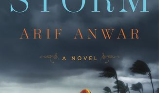 """This cover image released by Atria Books shows """"The Storm,"""" by Arif Anwar. (Atria Books  via AP)"""