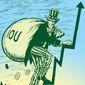 Illustration on rising national debt by M.Ryder/Tribune Content Agency