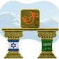 MidEast Pillars Illustration by Greg Groesch/The Washington Times