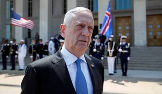 Defense Secretary Jim Mattis says America's has two fundamental sources of power: the power of inspiration and the power of intimidation. (Associated Press/File)