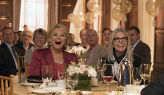 """This image released by Paramount Pictures shows Candice Bergen, left, and Diane Keaton in a scene from """"Book Club."""" (Melinda Sue Gordon/Paramount Pictures via AP)"""