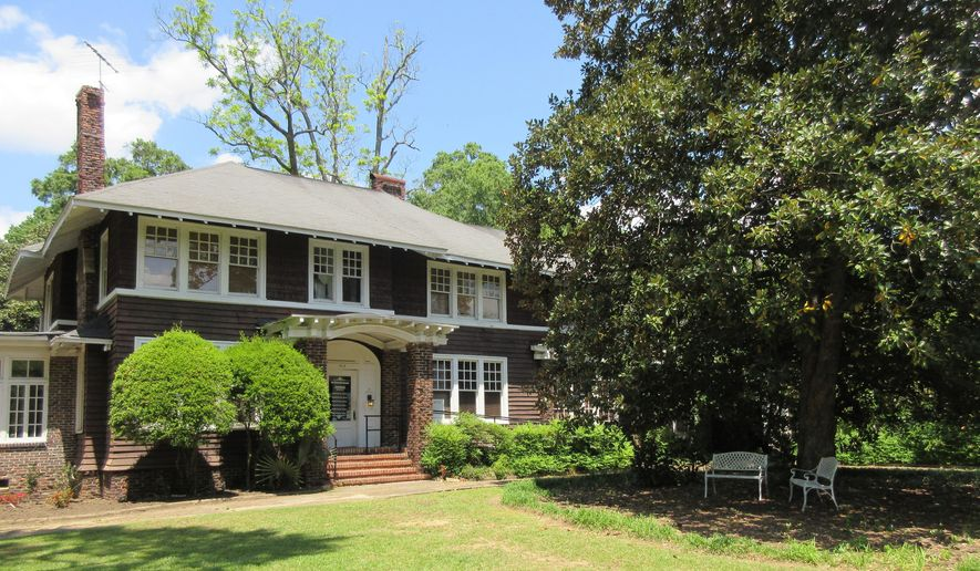 "This April 28, 2018 photo shows the F. Scott and Zelda Fitzgerald Museum in Montgomery, Ala. Zelda was a Montgomery native and the couple met in 1918 at a Montgomery country club while F. Scott was stationed at a U.S. Army base. They lived in the house in 1931 and 1932. An upstairs apartment may be rented on Airbnb and is also used for writers' residencies. F. Scott Fitzgerald is best known for his novel, ""The Great Gatsby,"" but while living in this house, he worked on ""Tender Is The Night,"" and she worked on her novel, ""Save Me The Waltz."" (AP Photo/Beth J. Harpaz)"