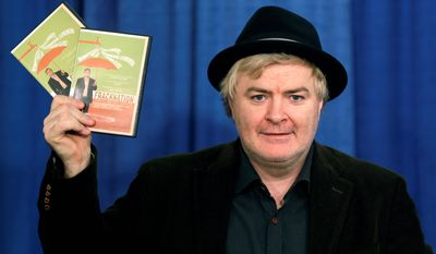 """Phelim McAleer, producer of  the documentary film """"Fracknation,"""" speaks during a news conference on Monday, Feb. 11, 2013, in Albany, N.Y. (AP Photo/Mike Groll)"""