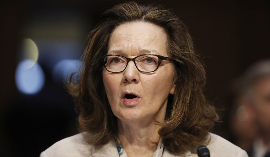 In this May 9, 2018, file photo, CIA nominee Gina Haspel testifies during a confirmation hearing of the Senate Intelligence Committee on Capitol Hill in Washington. (AP Photo/Alex Brandon, File)