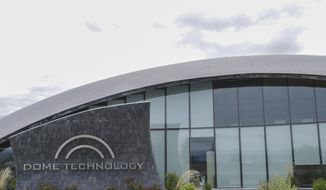 In this Monday, May 14, 2018 photo, Dome Technology headquarters is seen in Idaho Falls, Idaho. Dome Technology was founded in 1967 in Shelley, Idaho. (John Roark/The Idaho Post-Register via AP)