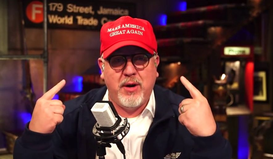 Radio host Glenn Beck told radio listeners on May 18, 2018, that he is officially ready to back President Trump due to the level of media bias towards his administration. (Image: YouTube, TheBlaze screenshot)