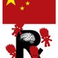 Illustration on Chinese pilfering of U.S. medical R&D by Alexander Hunter/The Washington Times