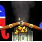 Illustration on congressional Republican spending habits by Alexander Hunter/The Washington Times