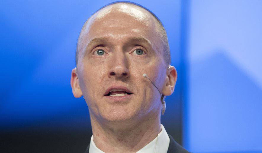 Stefan Halper chose British soil to introduce himself in early July 2016 to Trump campaign volunteer Carter Page (pictured), who became the target of an FBI wiretap the following October. Mr. Page told The Washington Times that the July meeting was his first of several encounters with Mr. Halper. (Associated Press)
