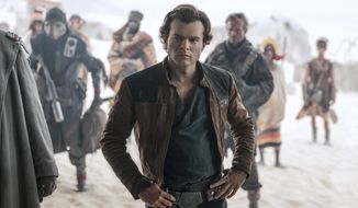 """Alden Ehrenreich appears in a scene from """"Solo: A Star Wars Story."""" (Jonathan Olley/Lucasfilm via AP)"""