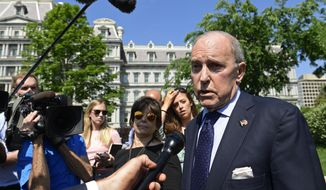 White House National Economic Council Director Larry Kudlow speaks to reporters at the White House in Washington, Monday, May 21, 2018. (AP Photo/Susan Walsh)