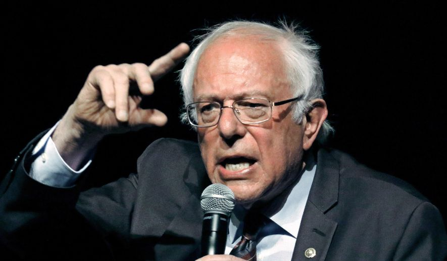 In this April 4, 2018, file photo, U.S. Sen. Bernie Sanders, I-Vt., responds to a question during a town hall meeting in Jackson, Miss. Sanders announced Monday, May 21, 2018, that he intends to seek re-election in 2018. (AP Photo/Rogelio V. Solis, File)