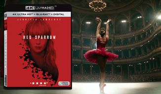 "Jennifer Lawrence stars in ""Red Sparrow,"" now available on 4K Ultra HD from 20th Century Fox Home Entertainment."