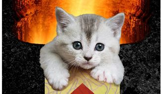 Illustration on USDA destruction of research kittens by Alexander Hunter/The Washington Times