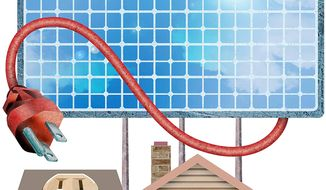 Freedom from Big Government Energy Illustration by Greg Groesch/The Washington Times