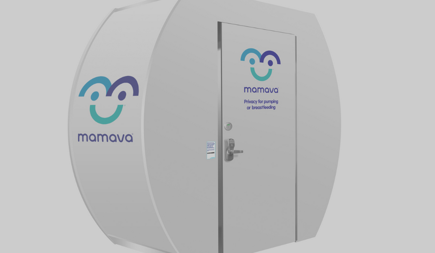 A Mamava lactation room is shown here, via the company's website.