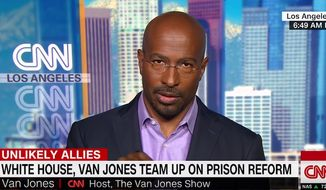 CNN analyst Van Jones speaks on his support for President Trump's stance on prison reform, May 21, 2018. (Image: CNN screenshot)
