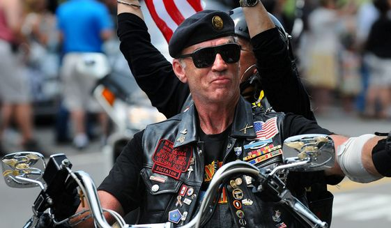 U.S. Army Sgt. Artie Muller, founder and national executive director of Rolling Thunder, Inc. (Photo by The Washington Times.)